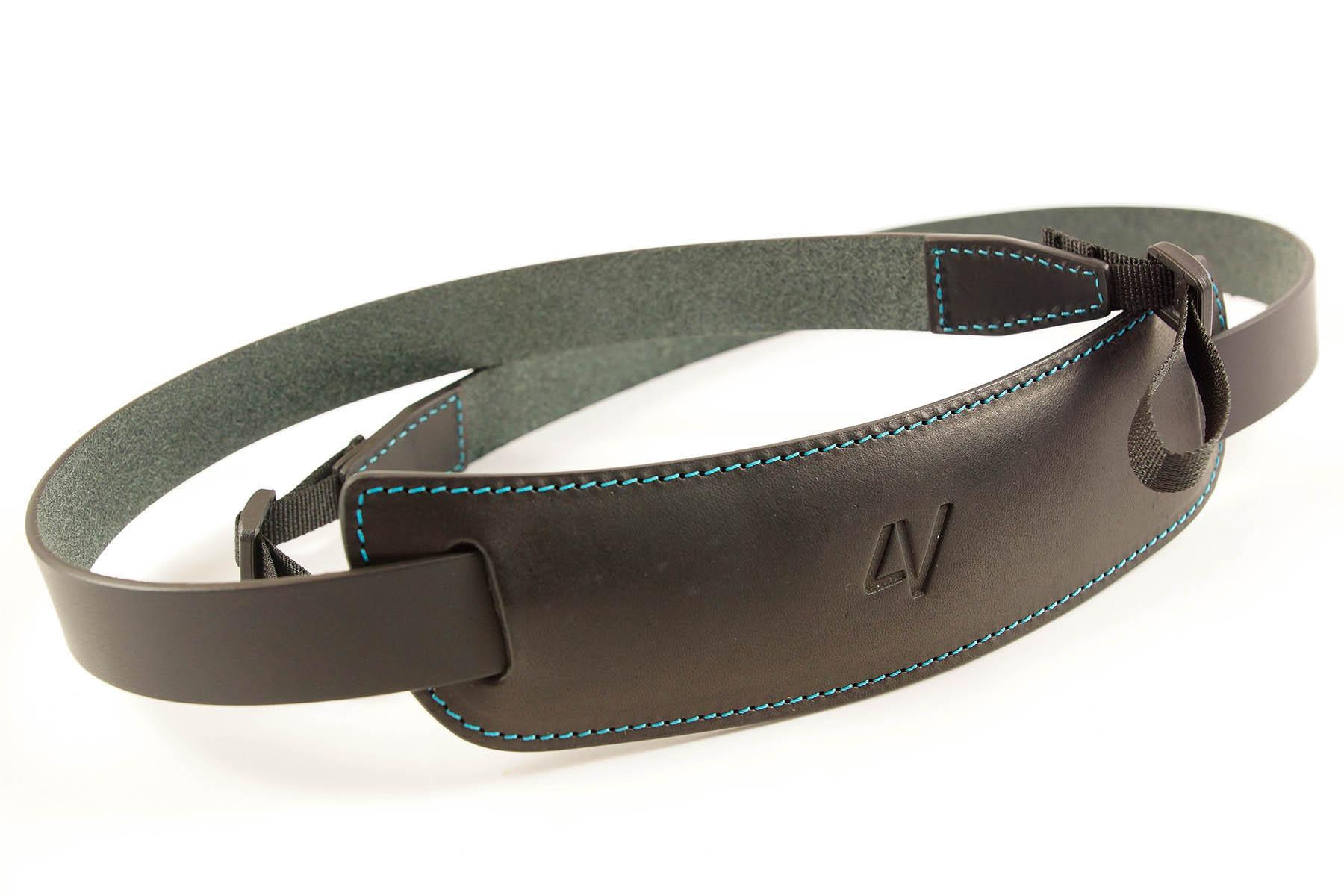 4V Design Camera Neck Strap (CLASSIC LARGE) - Black/Cyan Color