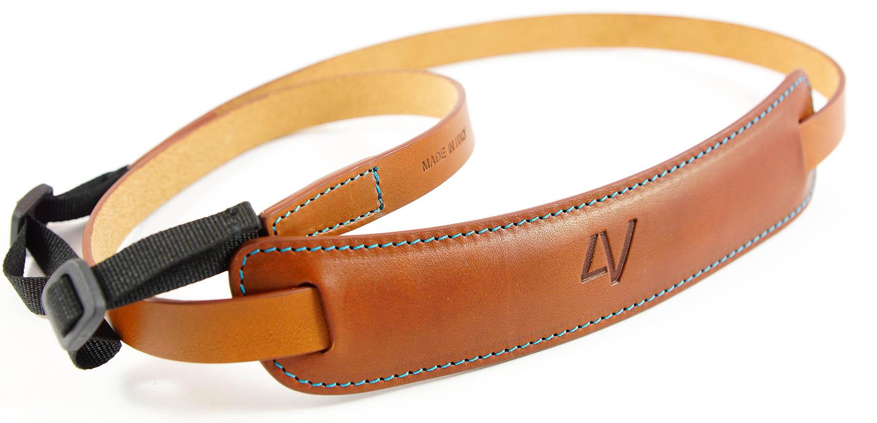 4V Design Camera Neck Strap (CLASSIC LARGE) - Brown/Cyan Color