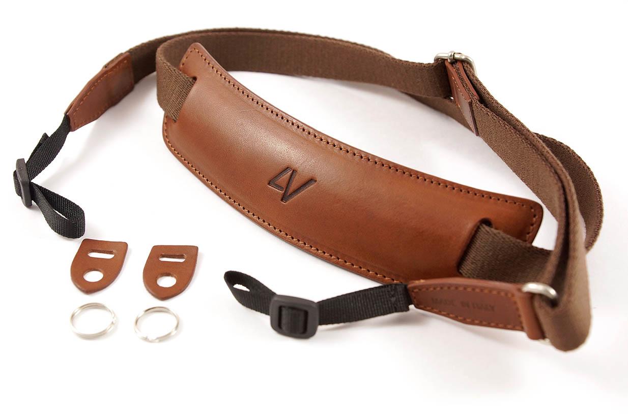 4V Design Camera Neck Strap (LUSSO LARGE) - Brown/Brown Color