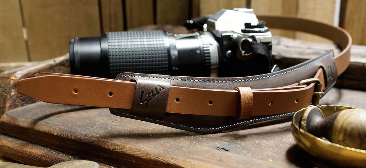 4V Design Camera Neck Strap (SELLA) - Made in Italy