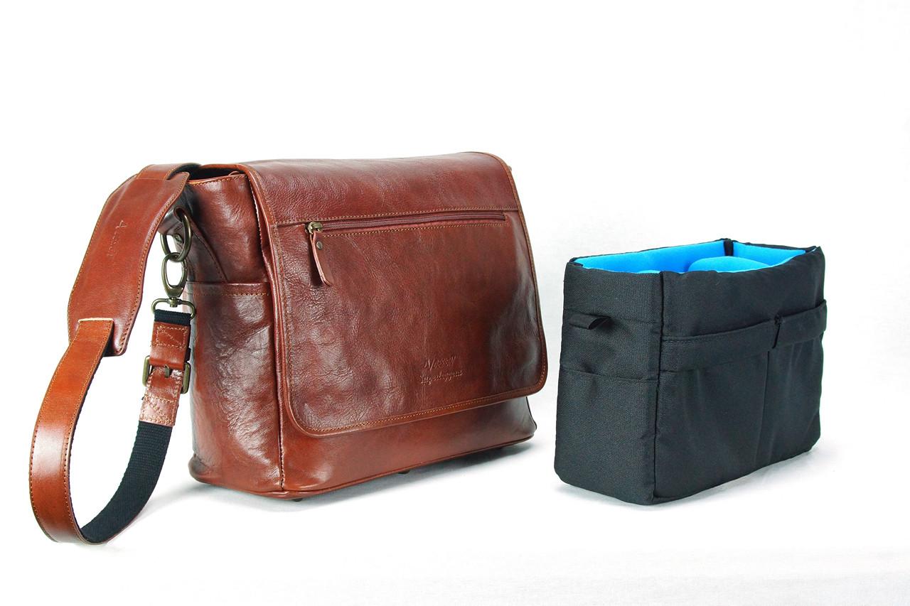 4V Design Camera Messenger Bag (SIMO) - Brown/Brown Color