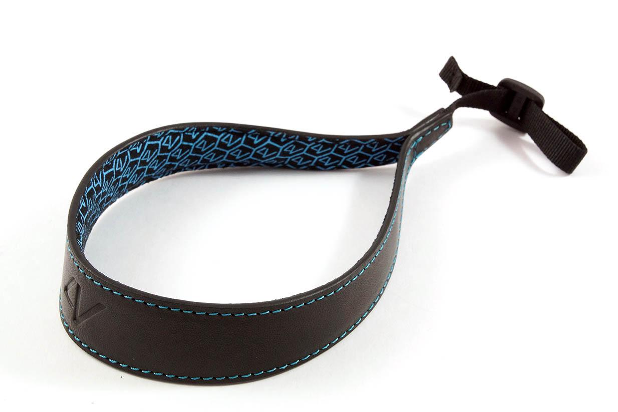 4V Design Camera Wrist Strap (ERGO) - Black/Cyan Color