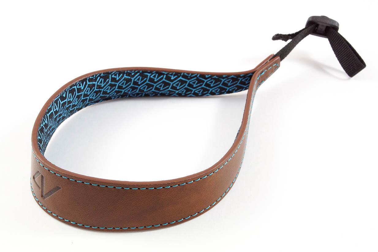 4V Design Camera Wrist Strap (ERGO) - Brown/Cyan Color