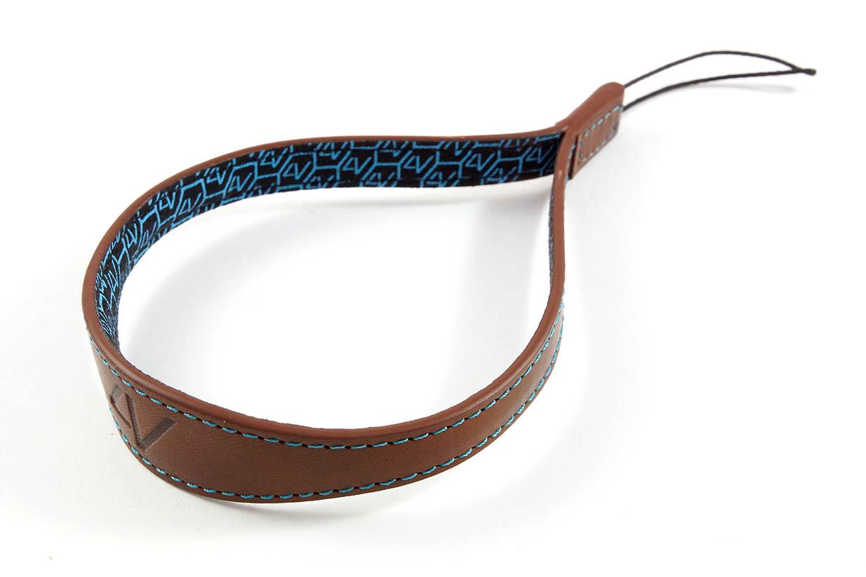 4V Design Camera Wrist Strap (WATCH) - Brown/Cyan Color