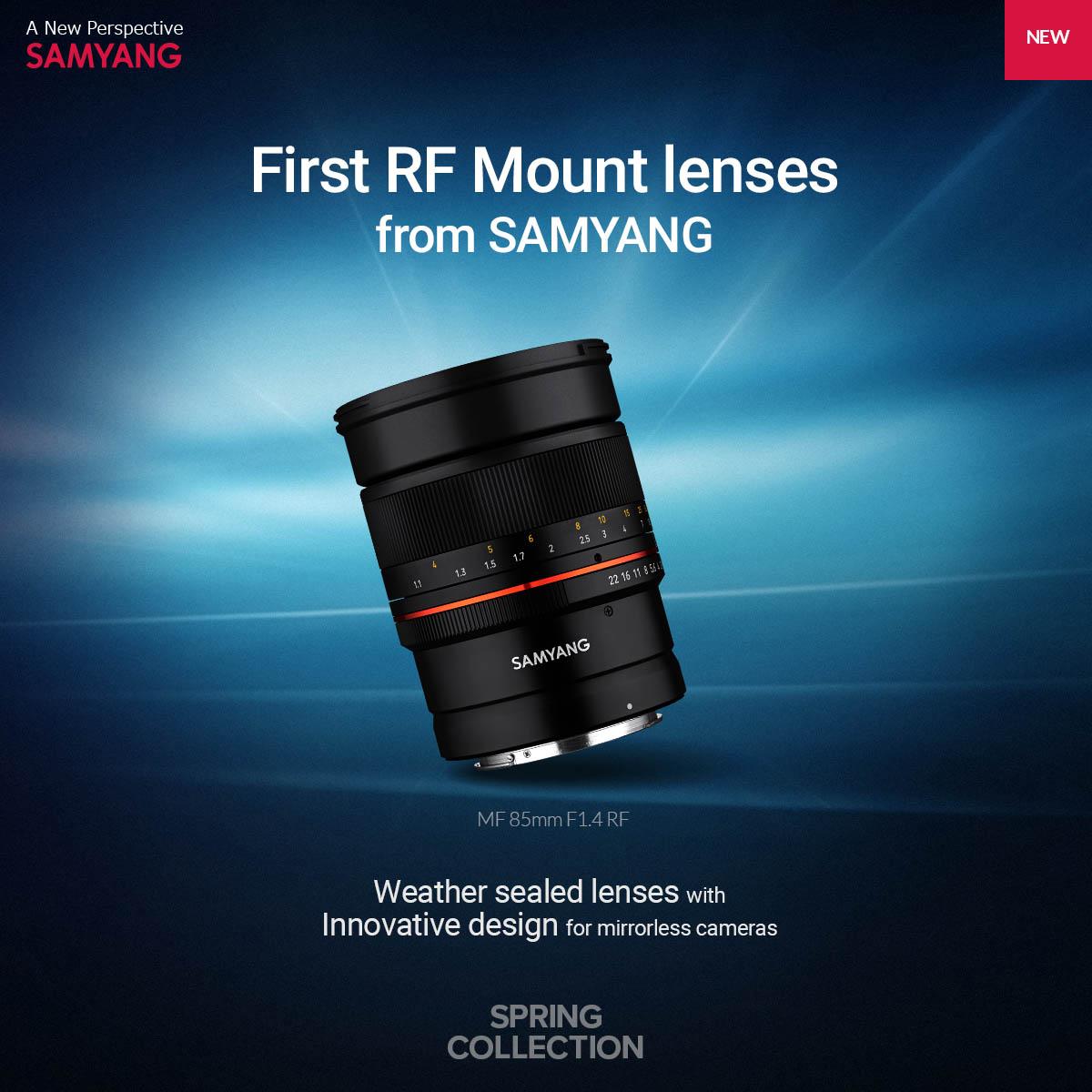 Samyang 森養 85mm F1.4 RF 鏡頭 (Canon EOS RF 接口)