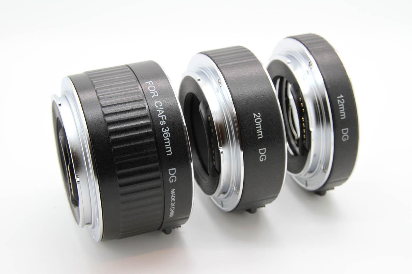 ProTama Auto Focus Macro Extension Tube Set DG-C (For Canon EOS EF/EFS Lens) - 12mm, 20mm, 36mm DG Extension Tube Set