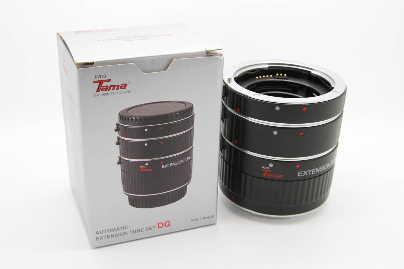 ProTama Auto Focus Macro Extension Tube Set DG-C (For Canon EOS EF/EFS Lens) - Packing
