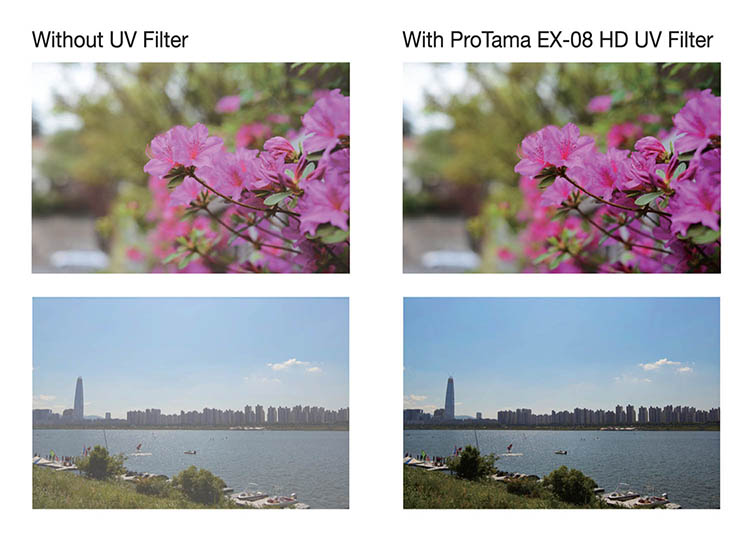 ProTama EX-08 Ultra Slim HD MC UV Filter (Large Size) - Photo Sample