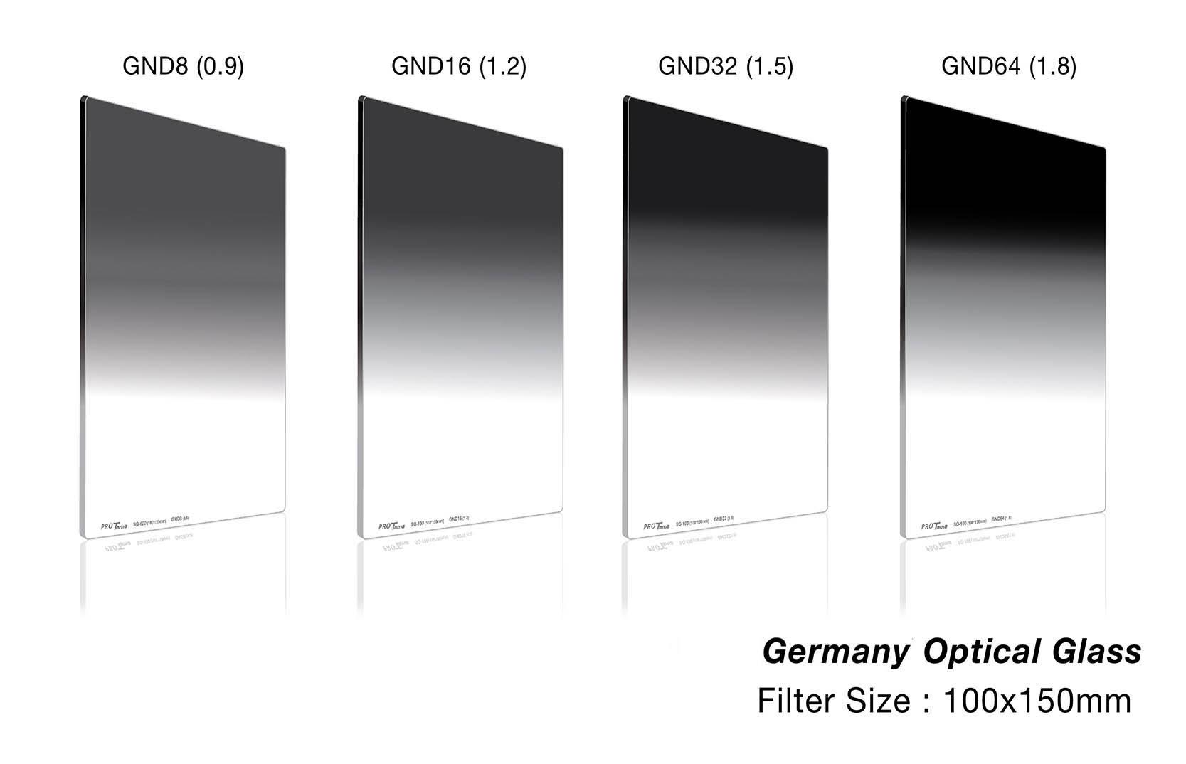 ProTama 天馬 (SQ-100) HD 高清方形濾鏡 100x150 (GND8, GND16, GND32, GND64) - 德國光學玻璃材料