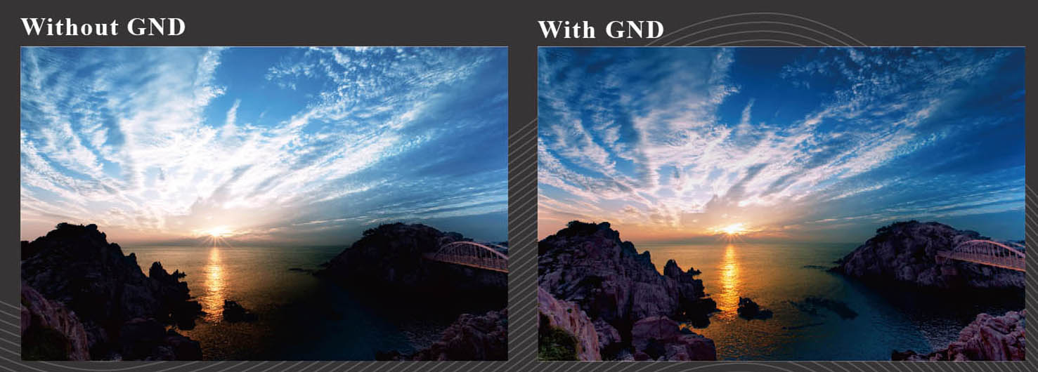 ProTama (SQ-100) Square Filter - Photo Sample (with GND Square Filter & without GND Square Filter)