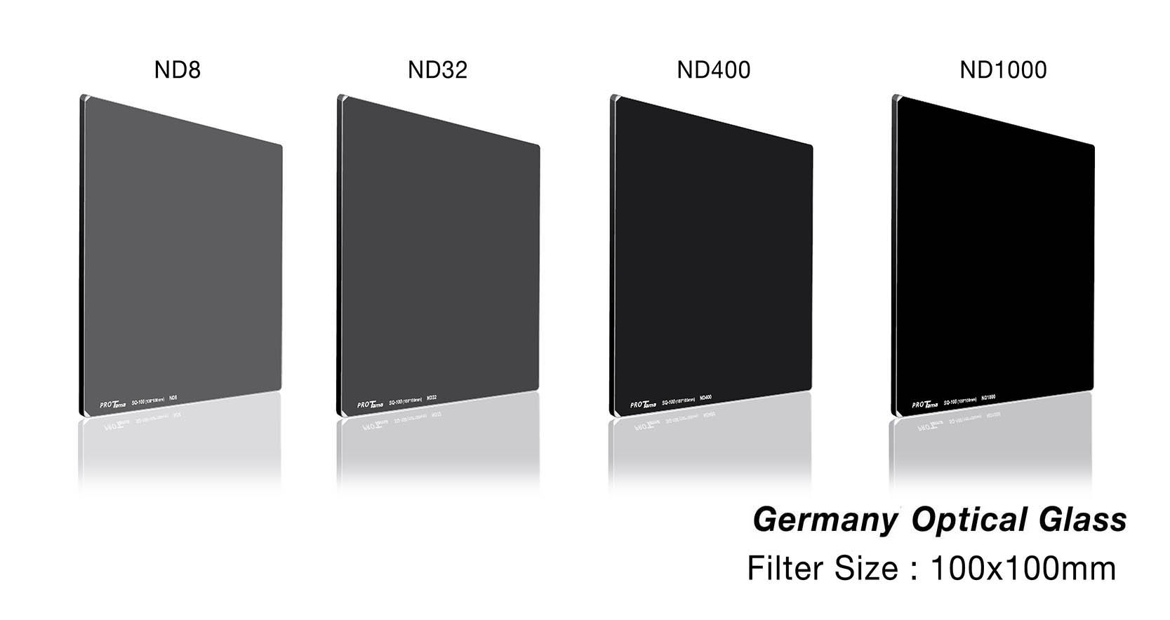 ProTama 天馬 (SQ-100) HD 高清方形濾鏡 100x100 (ND8, ND16, ND8) - 德國光學玻璃材料