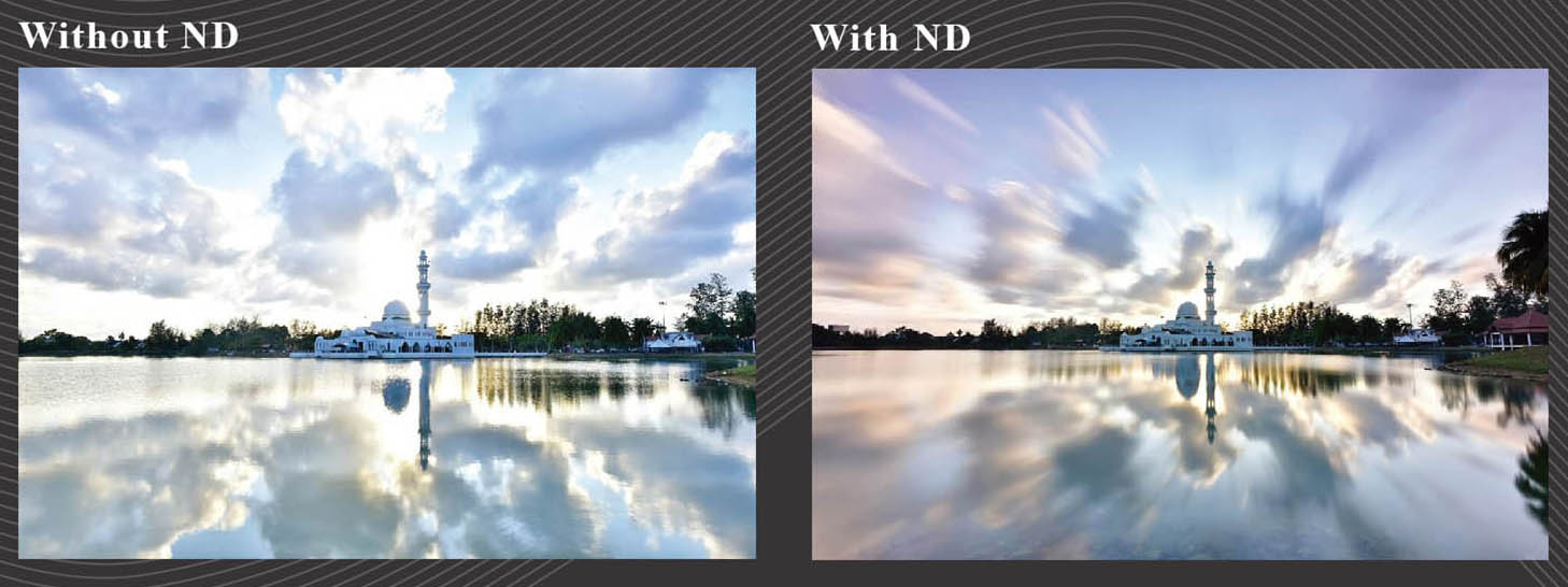 ProTama (SQ-100) Square Filter - Photo Sample (with ND Square Filter & without ND Square Filter)