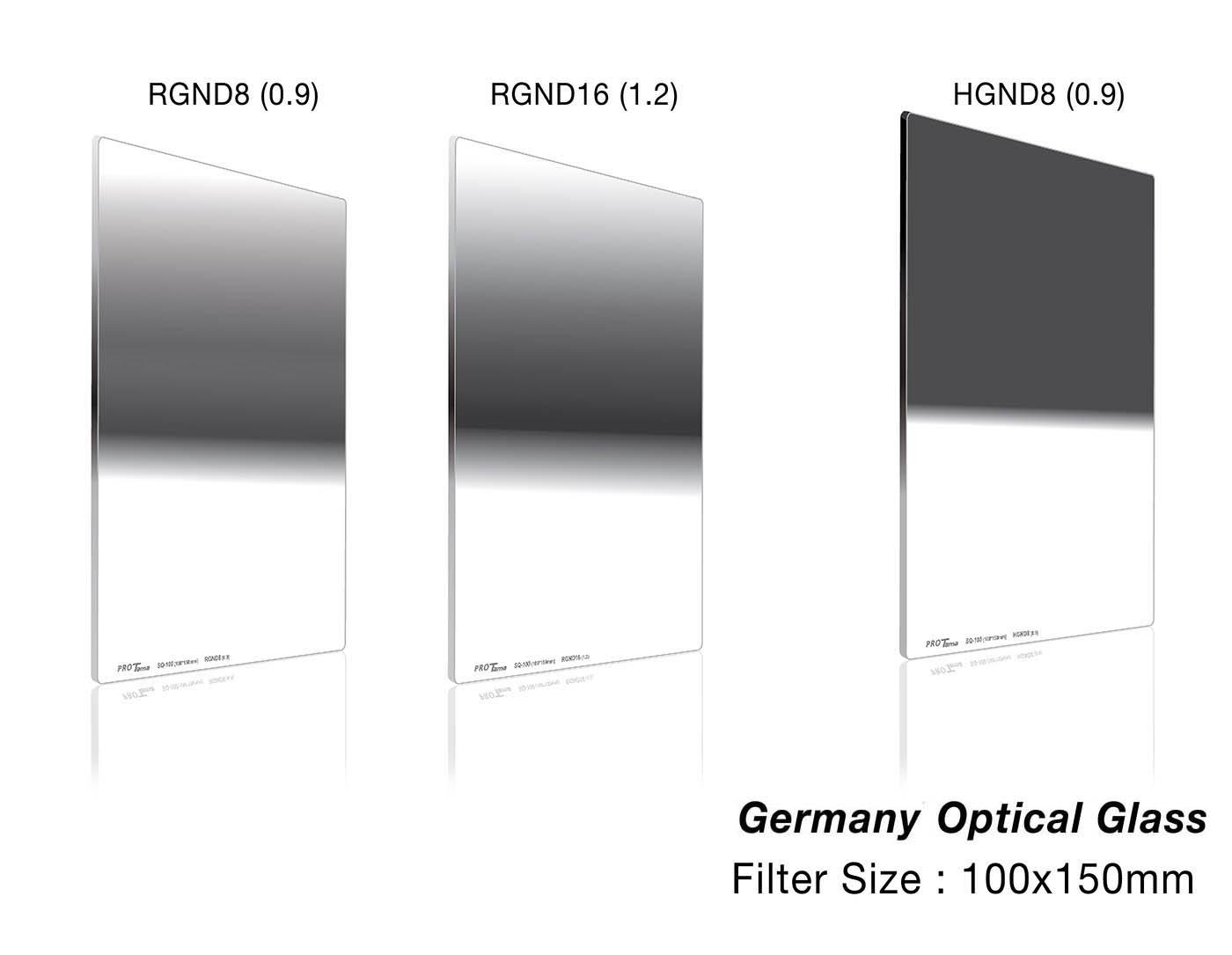 ProTama 天馬 (SQ-100) HD 高清方形濾鏡 100x150 (RGND8, RGND16, HGND8) - 德國光學玻璃材料