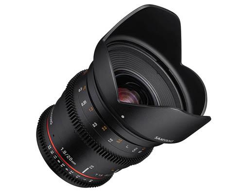 Samyang 20mm T1.9 Cine Lens