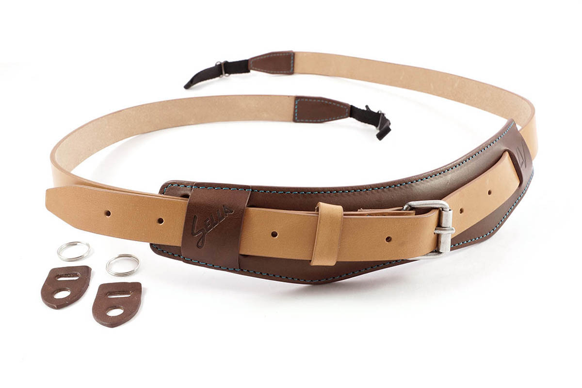 4V Design Camera Neck Strap (SELLA) - Brown/Natural Color