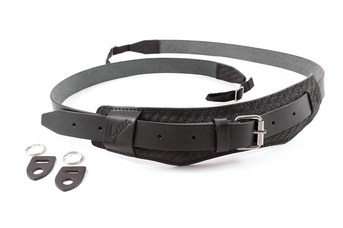 4V Design Camera Neck Strap (SELLA) - Carbon/Black Color