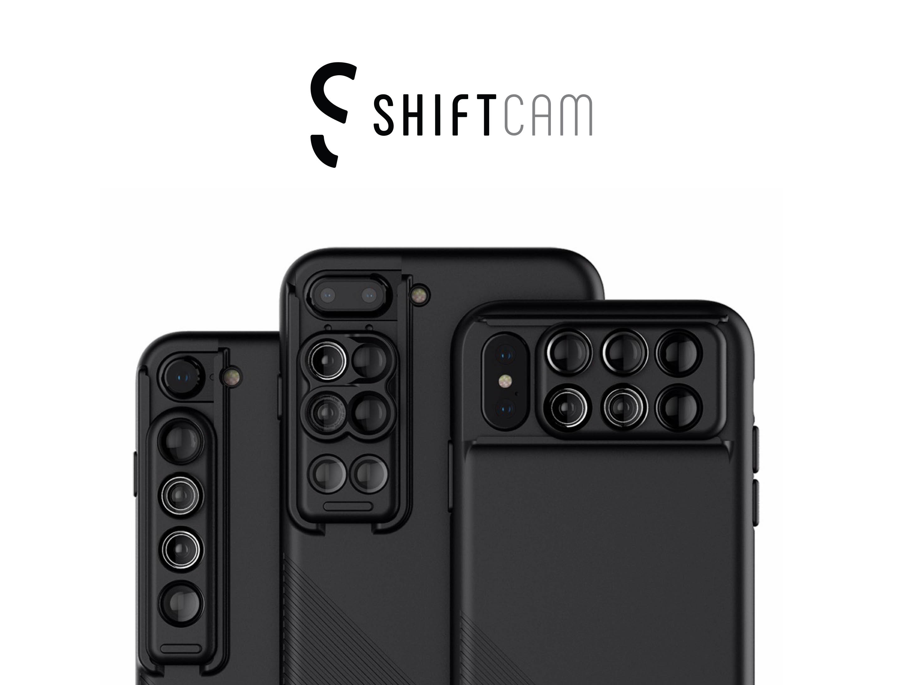 ShiftCam 2.0: 6-in-1 Travel Set with Front Facing Lens (for iPhone X, iPhone 8/8 Plus, iPhone 7/7 Plus)