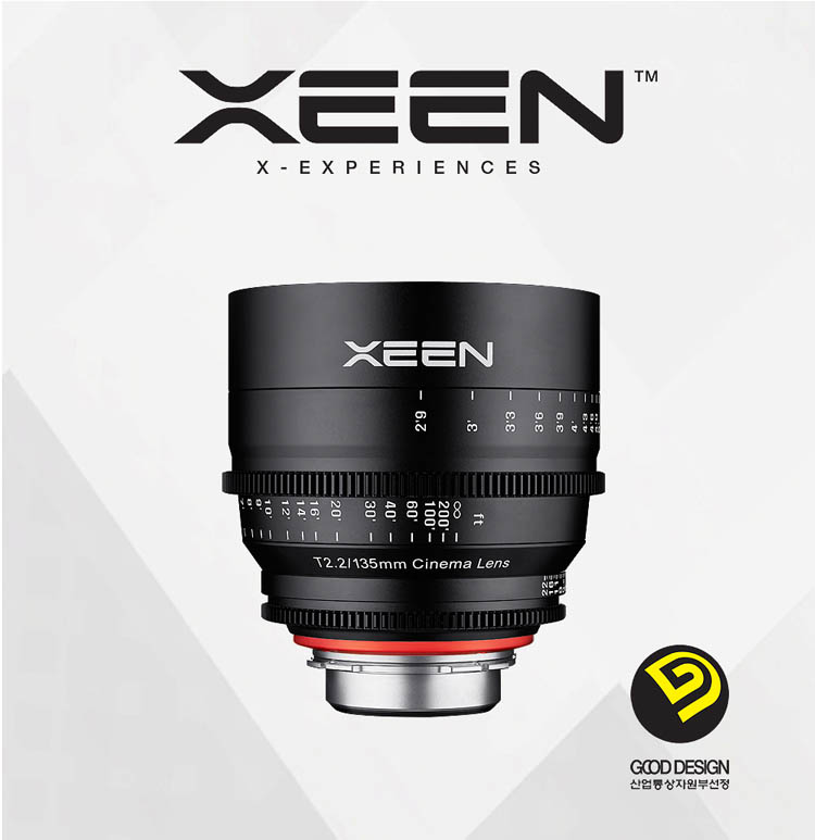 XEEN 135mm T2.2 Cinema Lens (For PL, Canon EF, Nikon F, Sony E, Micro 4/3) - Good Design Award