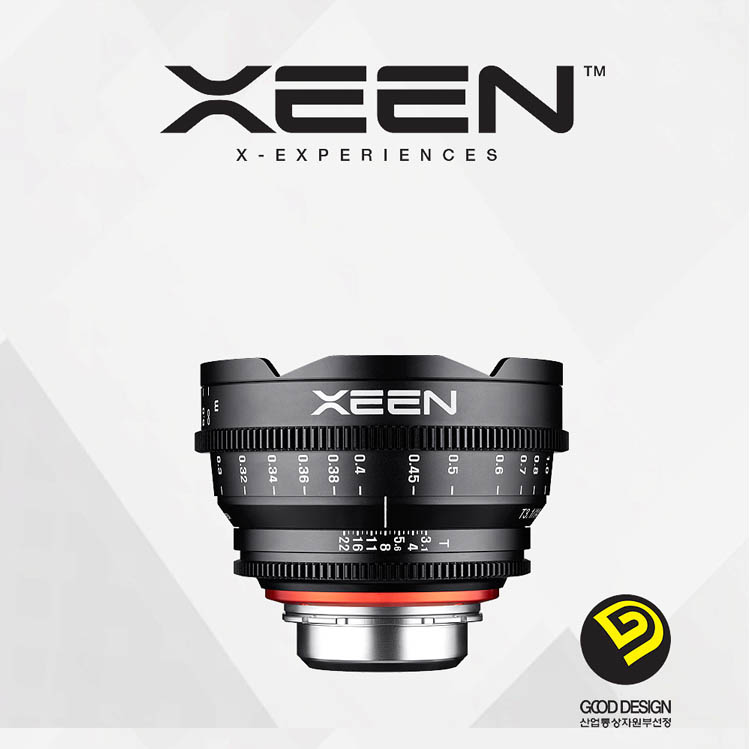 XEEN 14mm T3.1 Cinema Lens (For PL, Canon EF, Nikon F, Sony E, Micro 4/3) - Good Design Award