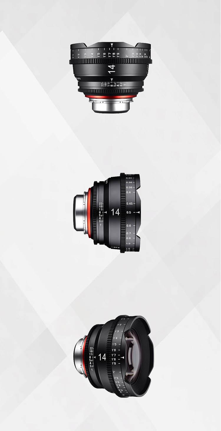 XEEN 14mm T3.1 專業電影鏡頭 (PL, Canon EF, Nikon F, Sony E, Micro 4/3 接口)
