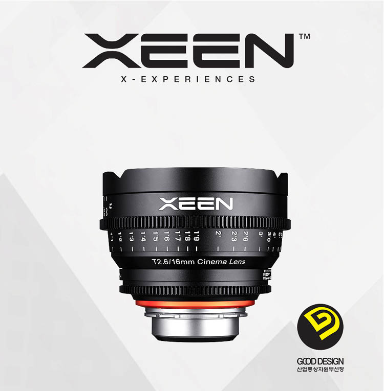 XEEN 16mm T2.6 Cinema Lens (For PL, Canon EF, Nikon F, Sony E, Micro 4/3) - Good Design Award