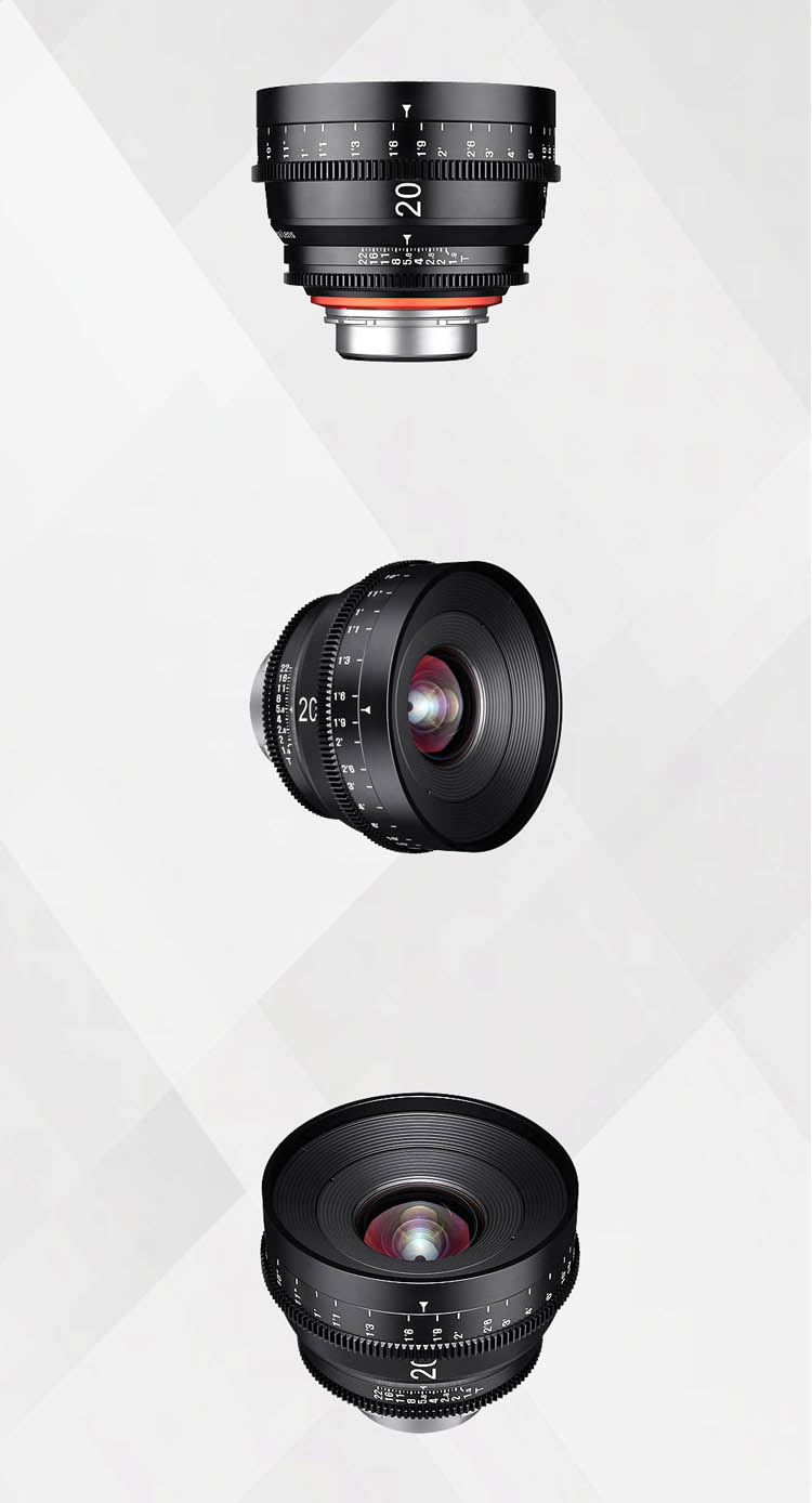 XEEN 20mm T1.9 專業電影鏡頭 (PL, Canon EF, Nikon F, Sony E, Micro 4/3 接口)