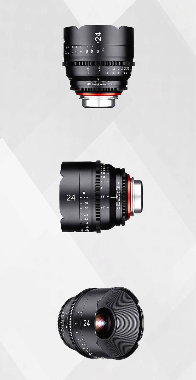 XEEN 24mm T1.5 Cinema Lens (For PL, Canon EF, Nikon F, Sony E, Micro 4/3)