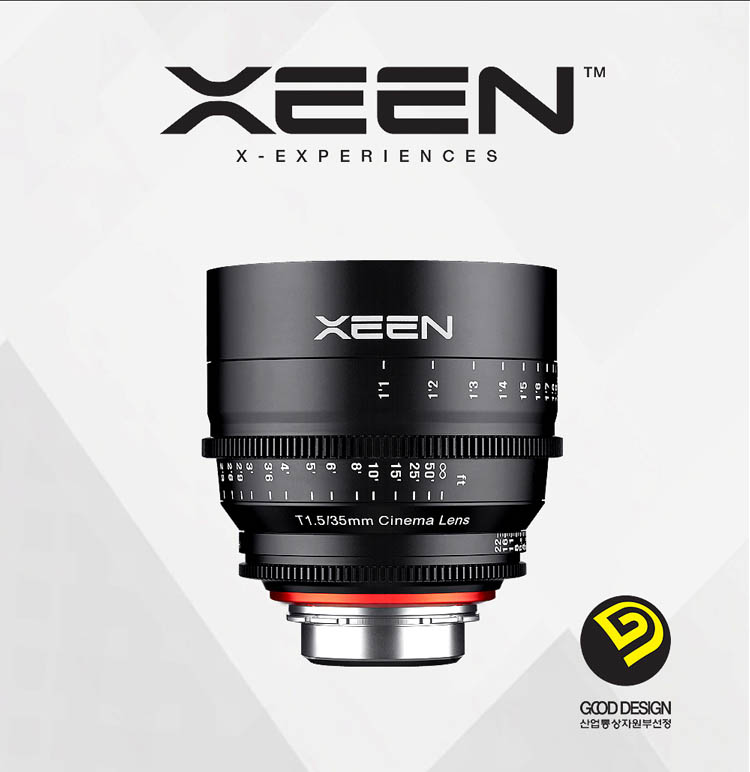 XEEN 35mm T1.5 Cinema Lens (For PL, Canon EF, Nikon F, Sony E, Micro 4/3) - Good Design Award