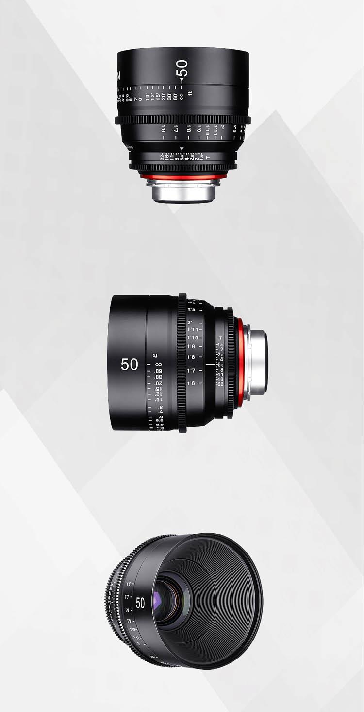 XEEN 50mm T1.5 專業電影鏡頭 (PL, Canon EF, Nikon F, Sony E, Micro 4/3 接口)