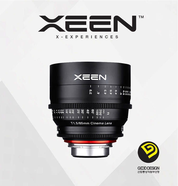 XEEN 85mm T1.5 Cinema Lens (For PL, Canon EF, Nikon F, Sony E, Micro 4/3) - Good Design Award
